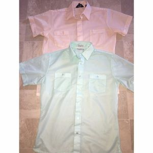 Men's Vintage Short Sleeve Button Down