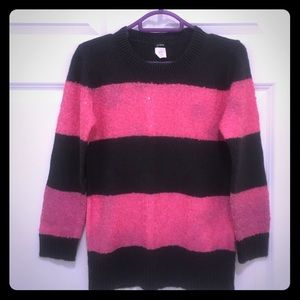 Jcrew pink and grey stripes sequined sweater
