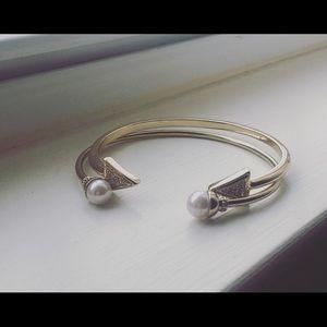 2 gold stackable bracelets