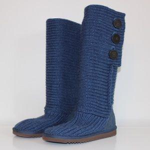 UGG Shoes - Blue Knit Ugg Boots