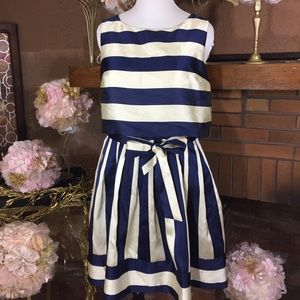 Ivy Blu  Dresses & Skirts - Navy and cream dress. Sz 16