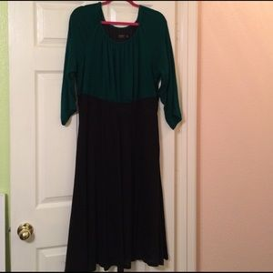 Igigi Dresses & Skirts - Lovely Green & Black A-Line Sweater Knit Dress 👗