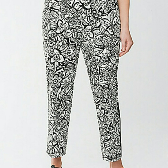 f12b73128de Lane Bryant Pants - Floral print tuxedo stripe ankle pants.