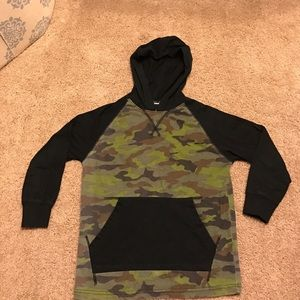 First Wave Other - Boys Size 8 Long Sleeve Hooded Shirt Camo & Black