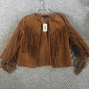 Forever 21 fringe jacket size small