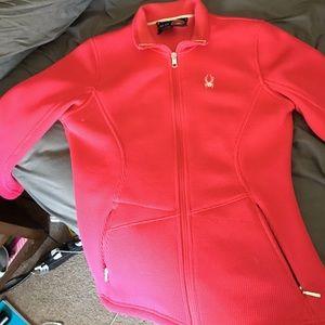 Spyder Jackets & Blazers - Spyder fleece knit activewear jacket medium