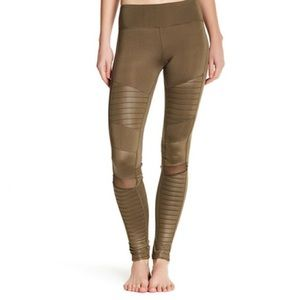 Electric Yoga Pants - SALE! Electric Yoga Motorcycle Pants - Olive