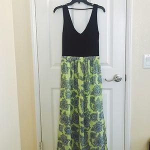 Oasis side split maxi dress