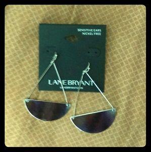 Lane Bryant Jewelry - Lane Bryant Silver Half Disc Earrings