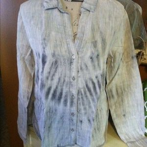 NWT $88 CLOTH & STONE TULIP BUTTON DOWN XS-S-M