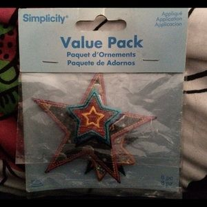 Simplicity Other - Star Iron-on Patches