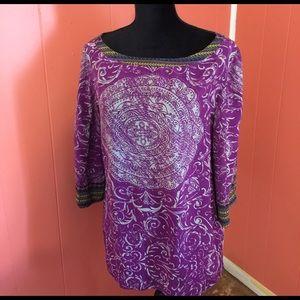 Soft Surroundings Purple Tunic Size L