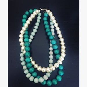 Turquoise pearl layered necklace