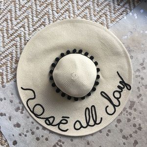 etsy Accessories - Rosé All Day Sequin Pom-Pom Sun Hat