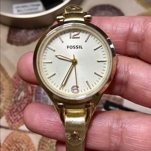 Fossil Accessories - Fossil Georgia watch gold ES3414 authentic .
