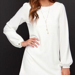 Lulu's Dresses & Skirts - White Sale Sz Small long Sleeved Sheath Dress