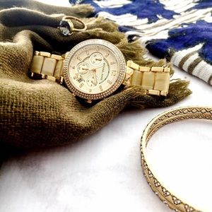 Michael Kors Gold and Horn Watch