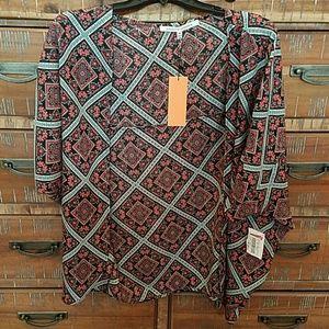 Collective Concepts Tops - Collective Concepts Kimono