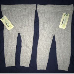 Osh Kosh Other - Lot of 2 Sweater Cable Knit Grey Leggings Girls