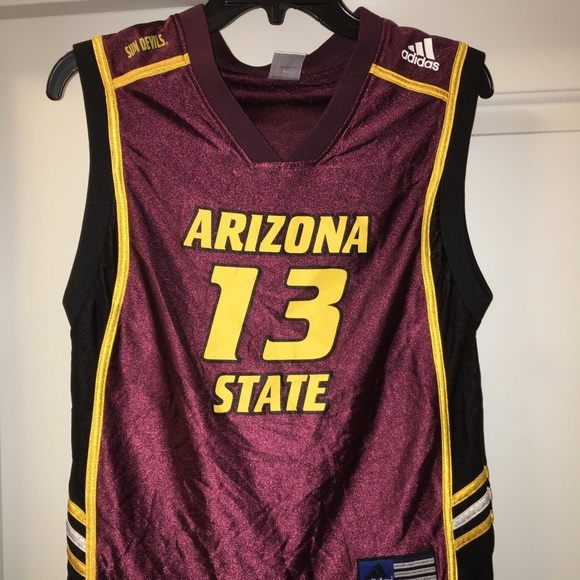 save off 5893e 0308d Adidas youth ASU James Harden jersey sz M