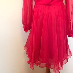 Vintage Dresses - Beautiful Hot Pink Vintage 60's Dress