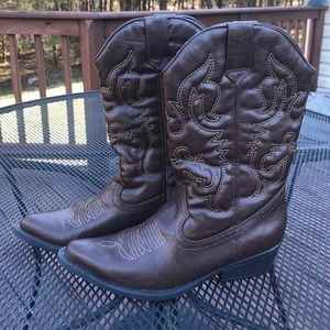 Madden Girl Shoes - Madden Girl brown western boot