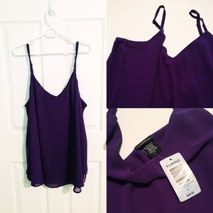 NWT Double-Layer Chiffon Cami