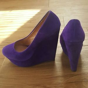 purple aldo wedges on Poshmark