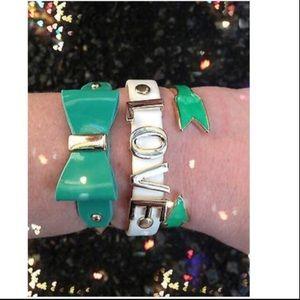 Jewelry - ❤️ Bracelet Arm Candy Stack Love Bow Arrow Green
