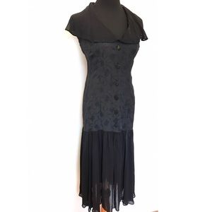 Vintage Brocade Halter Dress