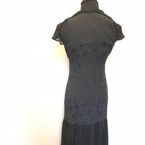 Vintage Dresses - Vintage Brocade Halter Dress