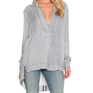 Free People Stripped Blouse