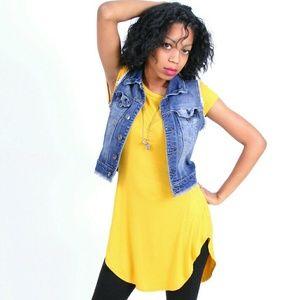 Tops - Mustard Yellow Tunic