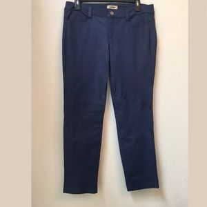 NWT $919 L'AGENCE 100% Lamb Suede Solid Blue Pants
