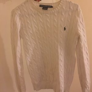 White Ralph Lauren Knit Sweater
