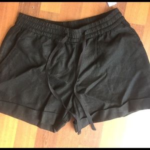 NWT Black Linen shorts size xs old Navy