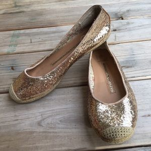 New Directions Tacoma Gold Sequin Flats