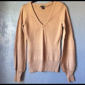 Gold V Neck H&M Sweater