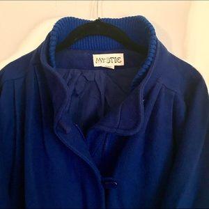 Royal Blue Oversized Cocoon Style Coat