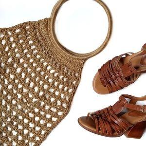 Vintage Macrame Purse Handbag