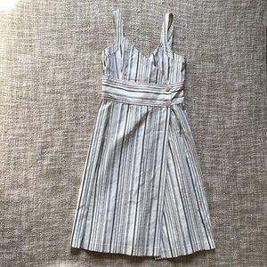 Zara Dresses & Skirts - Zara Nautical Striped Wrap Sundress