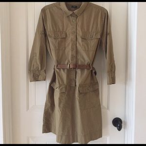 J. Crew Dresses & Skirts - J. Crew Olive Cargo Dress, size 8