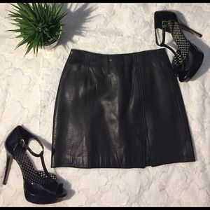 Express Dresses & Skirts - NWT Express 💯 Black Leather Mini Skirt, 3/4
