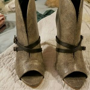 Just Fab Shoes - Peep Toe Booties
