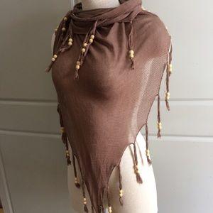 Accessories - Boho beaded multi-way shawl