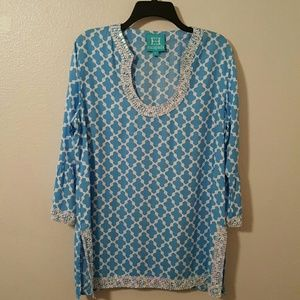 Escapada  Tops - Escapada Embellished Tunic Cover Up Size Large