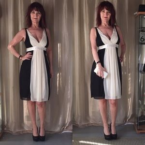 VINTAGE BLACK & CREAM COCKTAIL DRESS