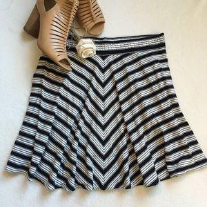 LOFT Dresses & Skirts - {LOFT} Striped Stretch Circle Skirt