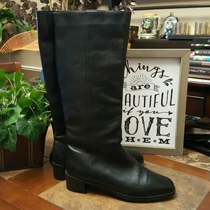 Ipanema Shoes - Black Leather Riding Boots