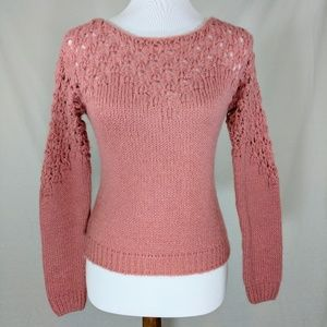 💖Rose Crocheted Sweater